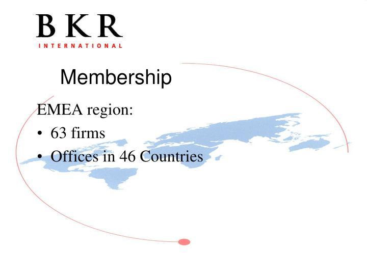 EMEA region: