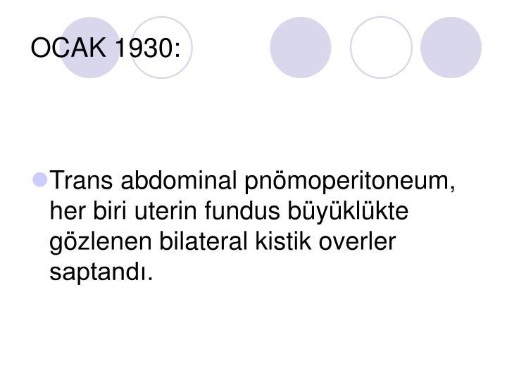 OCAK 1930:
