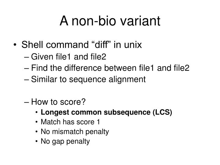 A non-bio variant