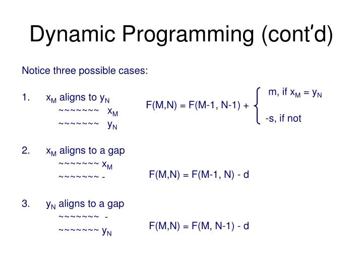 Dynamic Programming (cont