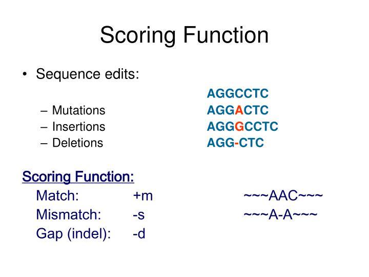 Scoring Function
