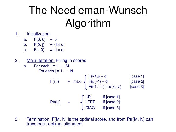 The Needleman-Wunsch Algorithm