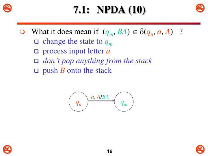 7.1: NPDA (10)