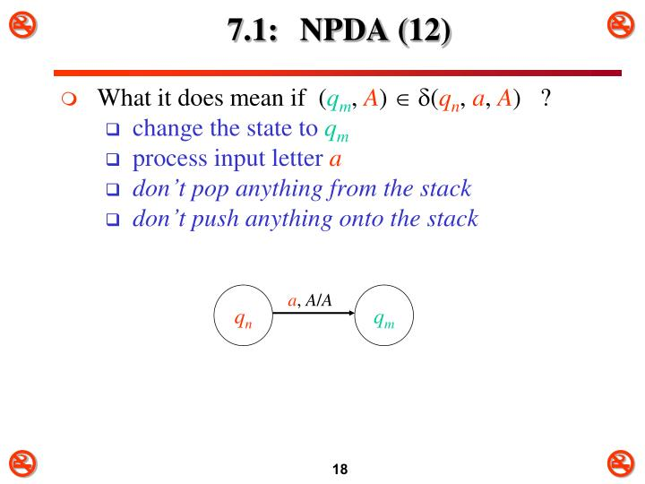 7.1: NPDA (12)