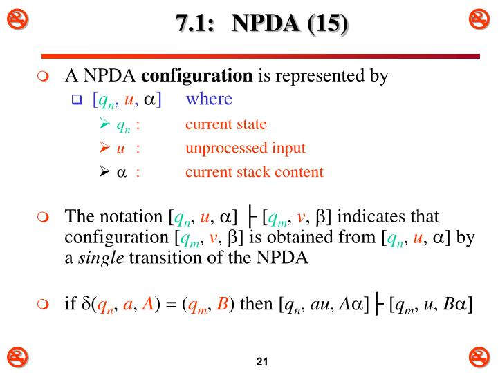 7.1: NPDA (15)