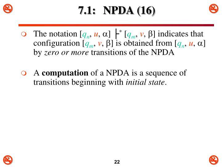 7.1: NPDA (16)