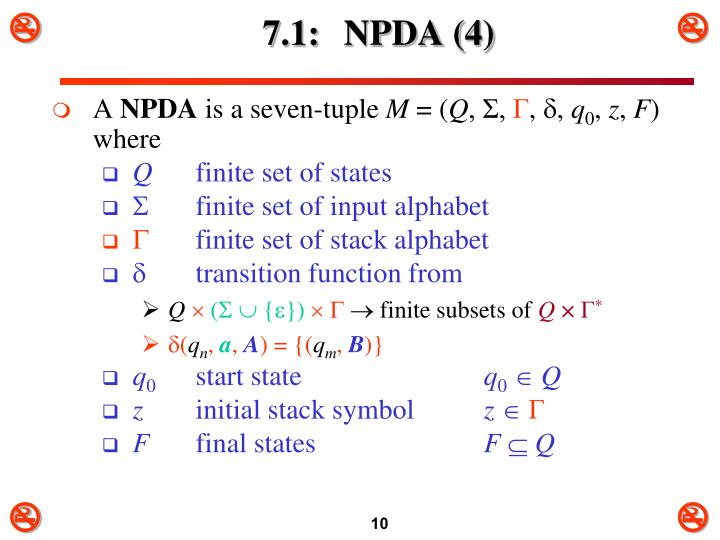 7.1: NPDA (4)