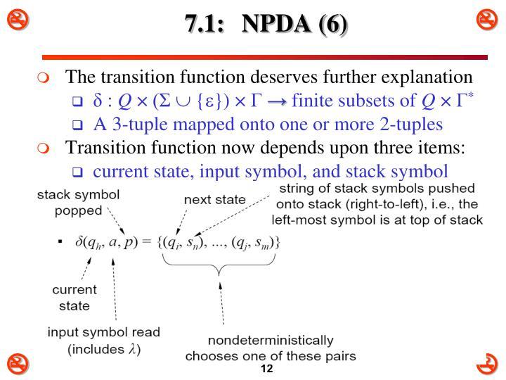 7.1: NPDA (6)