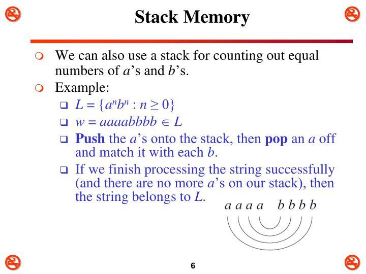 Stack Memory