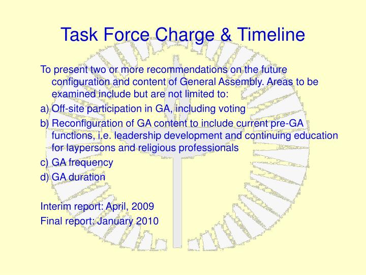 Task Force Charge & Timeline