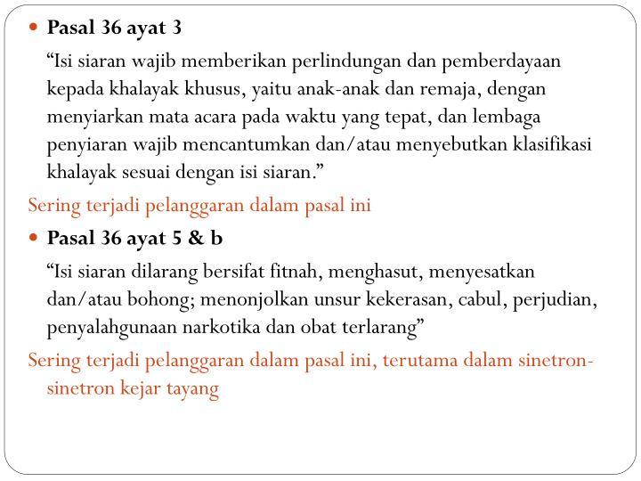 Pasal 36 ayat 3