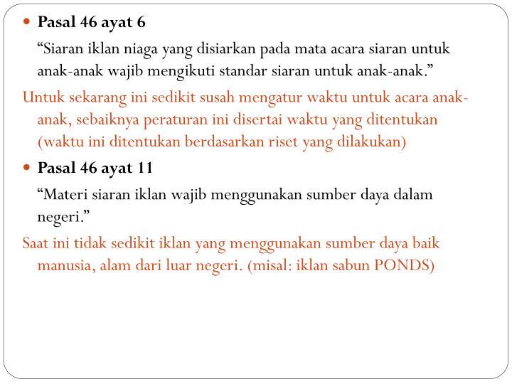 Pasal 46 ayat 6