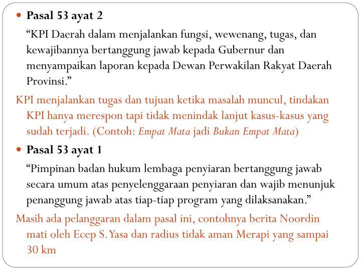 Pasal 53 ayat 2