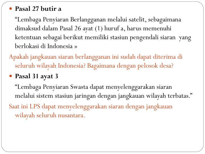 Pasal 27 butir a