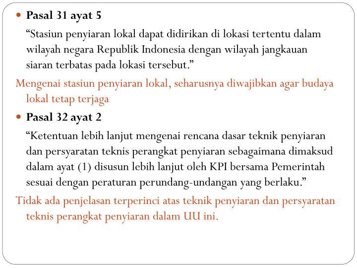 Pasal 31 ayat 5