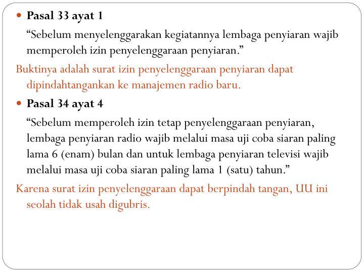 Pasal 33 ayat 1