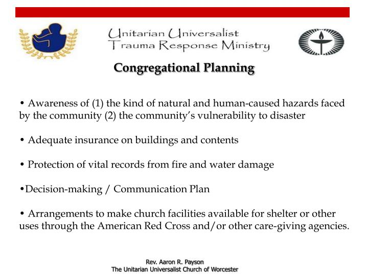 Congregational Planning