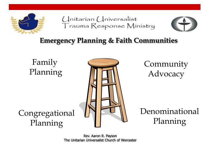 Emergency Planning & Faith Communities