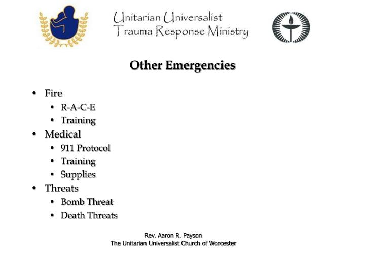 Other Emergencies