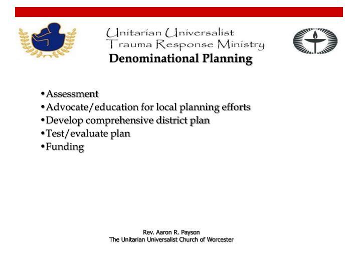 Denominational Planning