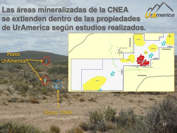 Las áreas mineralizadas de la CNEA