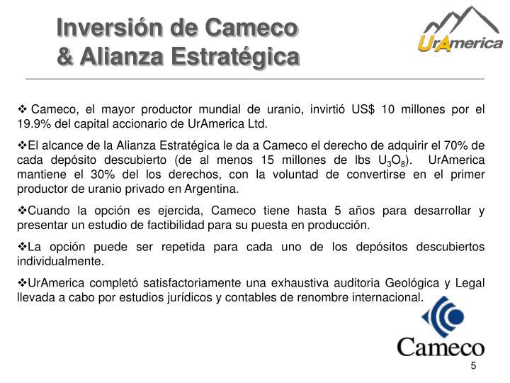 Inversión de Cameco