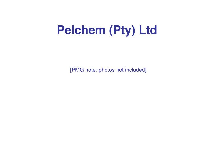 Pelchem (Pty) Ltd