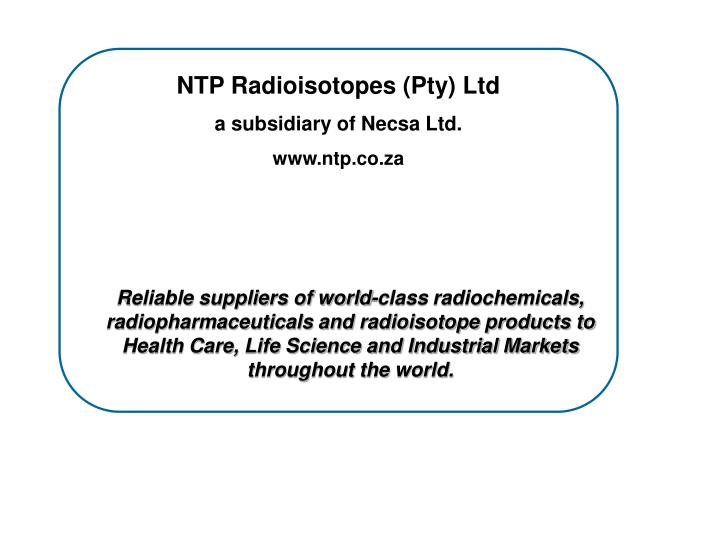 NTP Radioisotopes (Pty) Ltd