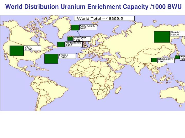 World Distribution Uranium Enrichment Capacity /1000