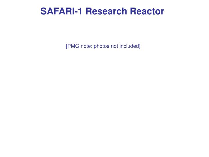 SAFARI-1 Research Reactor