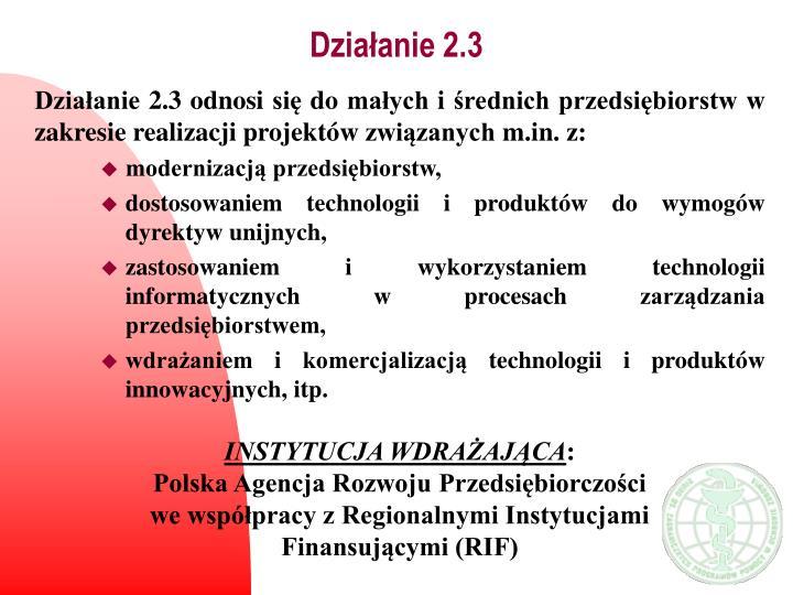 Działanie 2.3