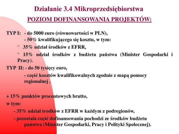 Działanie 3.4 Mikroprzedsiębiorstwa