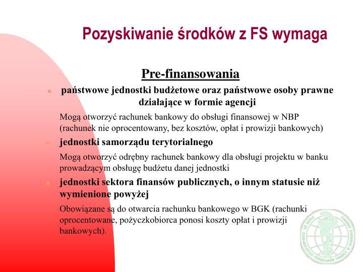 Pozyskiwanie środków z FS wymaga