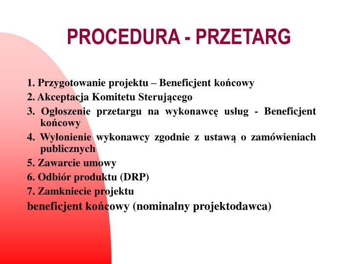 PROCEDURA - PRZETARG