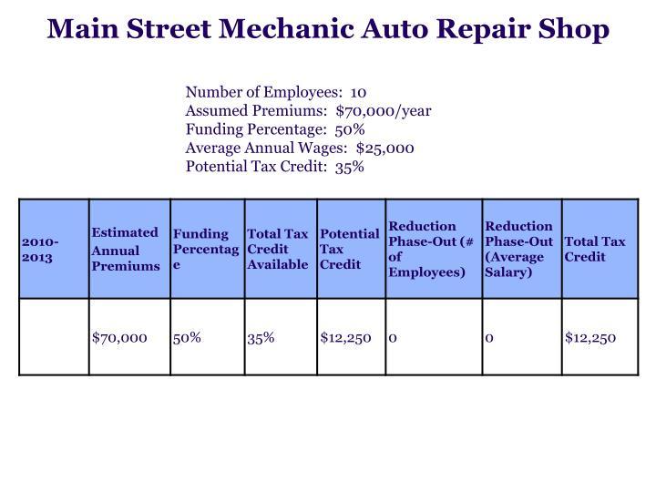 Main Street Mechanic Auto Repair Shop