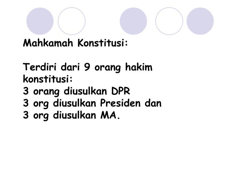 Mahkamah Konstitusi: