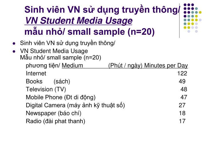 Sinh viên VN sử dụng truyền thông/