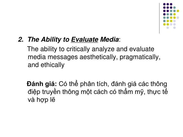 2.  The Ability to