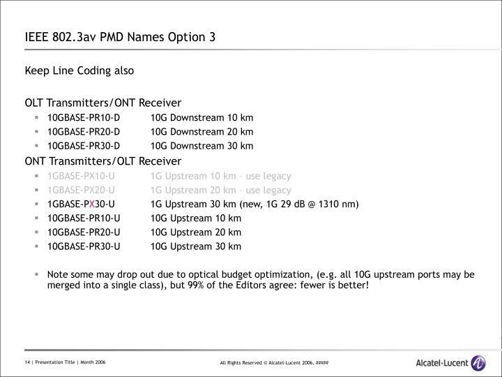 IEEE 802.3av PMD Names Option 3