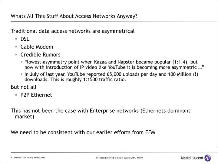 Whats All This Stuff About Access Networks Anyway?