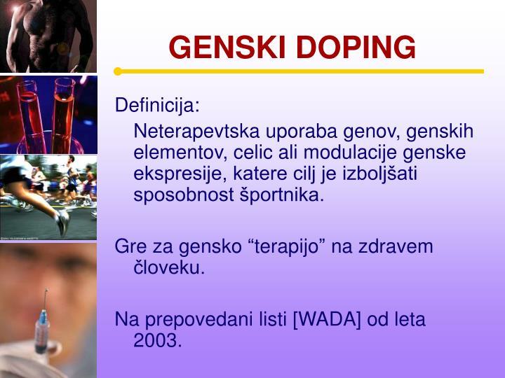 GENSKI DOPING