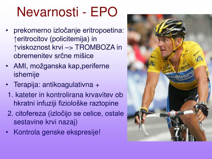 Nevarnosti - EPO
