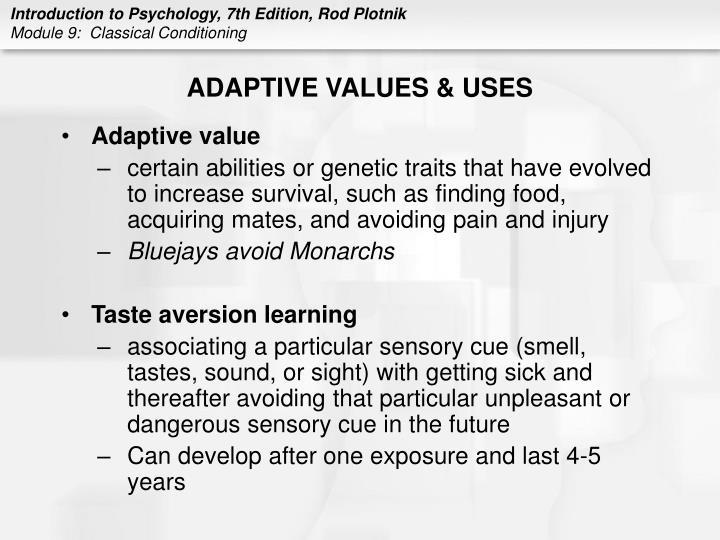 ADAPTIVE VALUES & USES