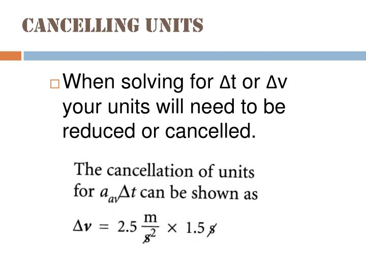 Cancelling units
