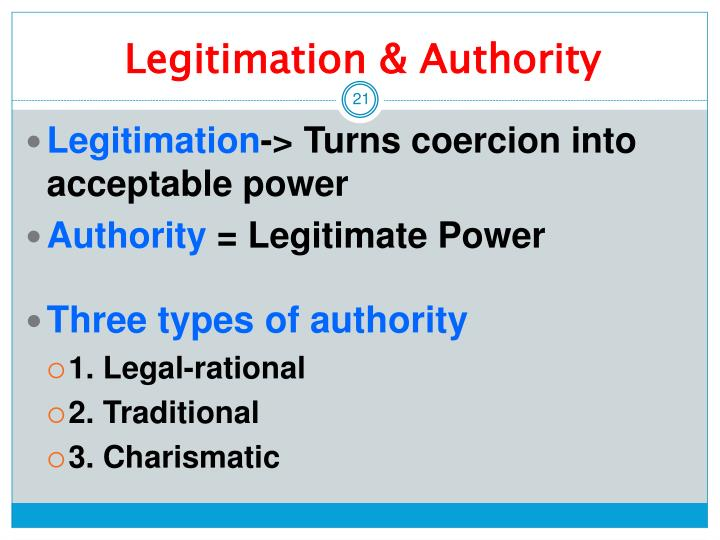 weber s traditional authority and charismatic authority