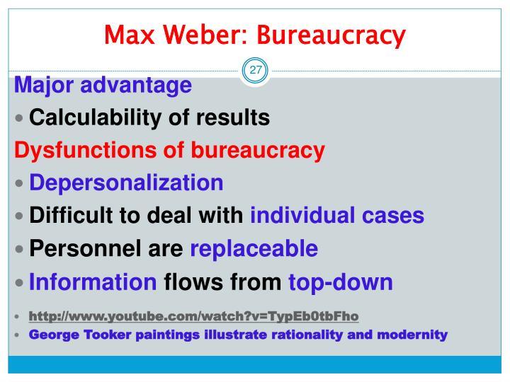 Max weber on bureaucracy