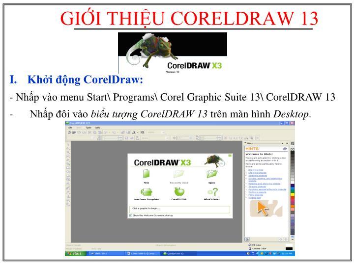 Khởi động CorelDraw: