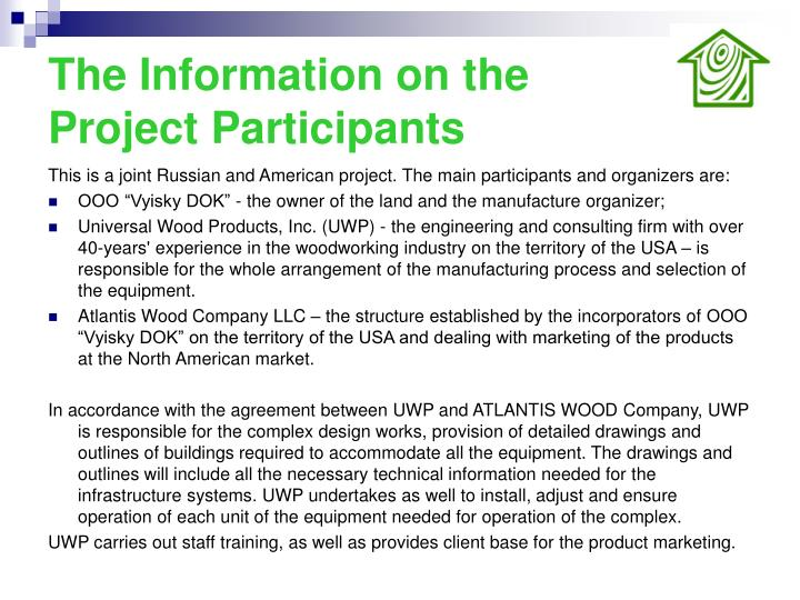 The Information on the Project Participants