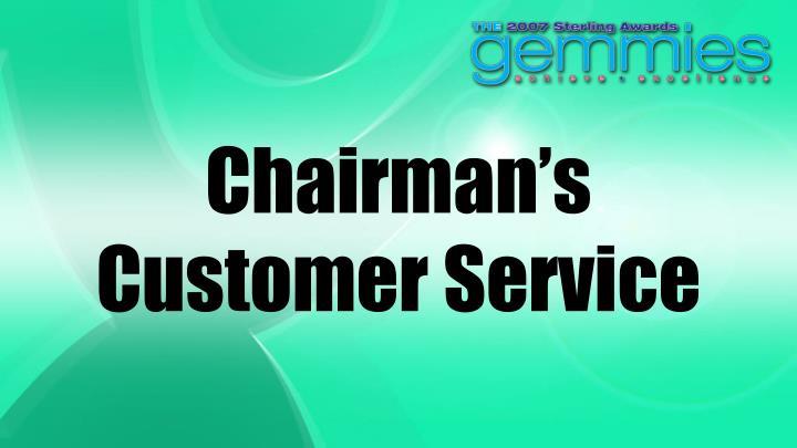 Chairman's