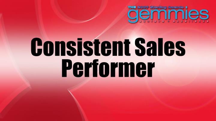 Consistent Sales